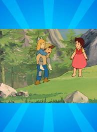 Les enfants sur la montagne