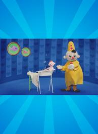 Babilu prend un bain