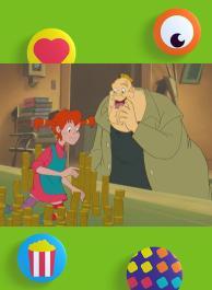 Pippi speelt met twee dieven