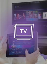 Een programma of film naar je televisie swipen