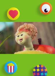 De worm in Bols appel